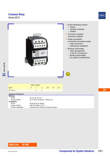 Contactor Relay Series 8510