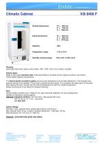 Climatic cabinets 400 Litres