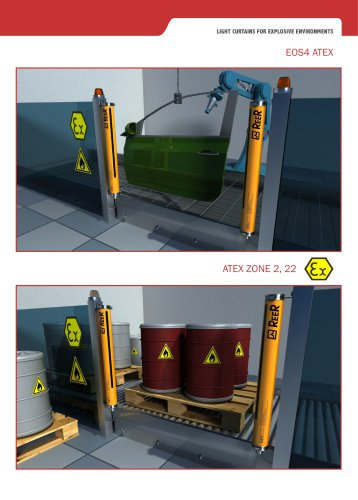 EOS4 ATEX - Light Curtains for explosive environments