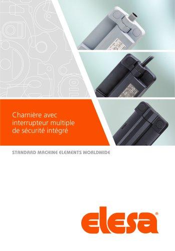 CFSW.  - CFMW. - Charnière avec interrupteur multiple de sécurité intégré