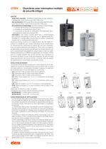 CFSW.  - CFMW. - Charnière avec interrupteur multiple de sécurité intégré - 2