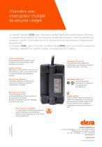 CFSW.  - CFMW. - Charnière avec interrupteur multiple de sécurité intégré - 8
