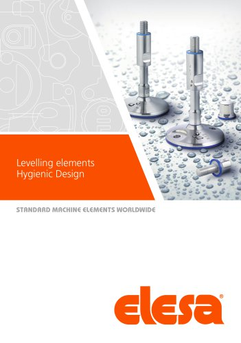 Levelling elements Hygienic Design