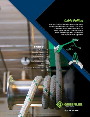 Cable Pulling. pages 145 to 176