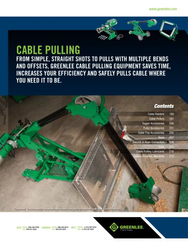 cable pulling: pages 189 to 220