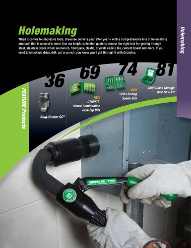 Holemaking Catalog