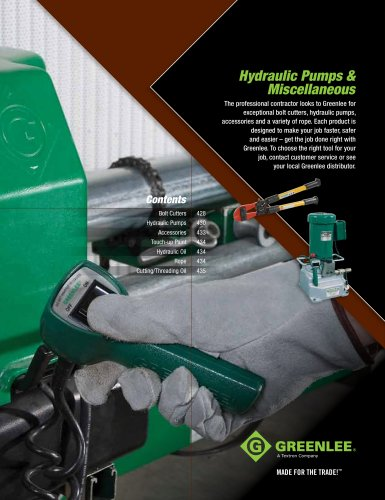 Hydraulic Pumps & Miscellaneous