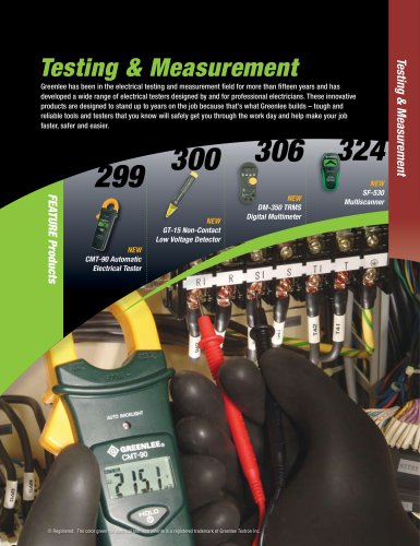 Testing & Measurement Catalog
