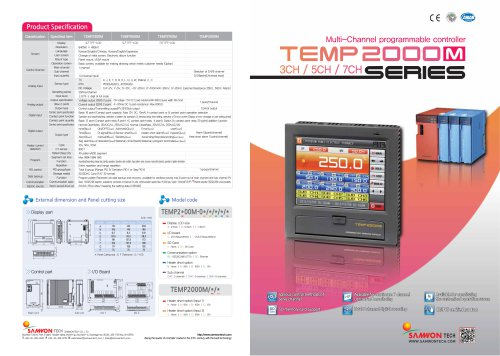 Multi-Channel programmable controller TEMP2000M